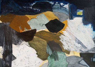 1 Danish nature landscape.Water color,oil pastel,pencil.Created 2000-2008.