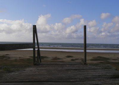 Stair drop to beach in Jutland